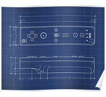 Wii Remote Blueprint Poster