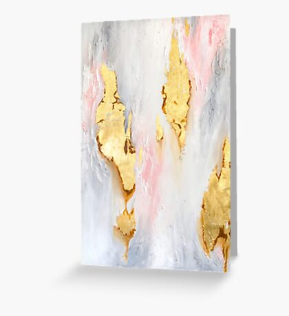 Gold Marble Greeting Card