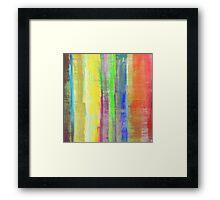 Rainbow Stripes Framed Print