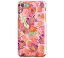 Pretty Pink Watercolor Floral Garden iPhone Case/Skin