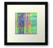 Checkered Abstract Framed Print