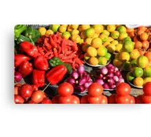Colorful Fruits and Vegetables Canvas Print