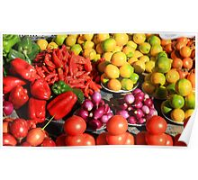 Colorful Fruits and Vegetables Poster