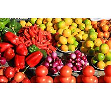 Colorful Fruits and Vegetables Photographic Print