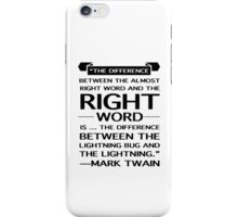 Mark Twain on Writing iPhone Case/Skin