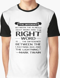 Mark Twain on Writing Graphic T-Shirt