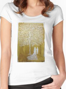 White Wedding Women's Fitted Scoop T-Shirt