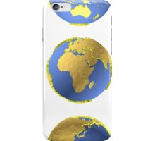 Earth globes vector pattern iPhone Case/Skin