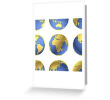 Earth globes vector pattern Greeting Card