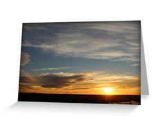 Sunset on Tablerock Lake Greeting Card