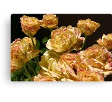 Dirty Yellow Roses Canvas Print