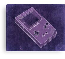 Distressed Nintendo Game Boy - Purple Canvas Print