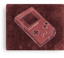 Distressed Nintendo Game Boy - Red Canvas Print