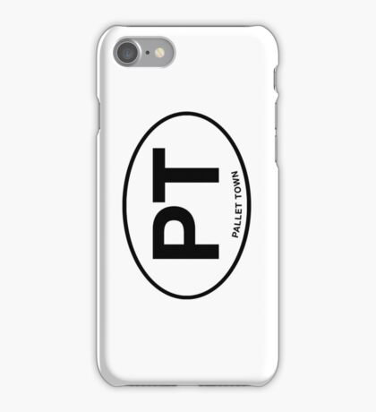 Pallet Town City Initials iPhone Case/Skin