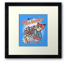 Pawsicles Framed Print