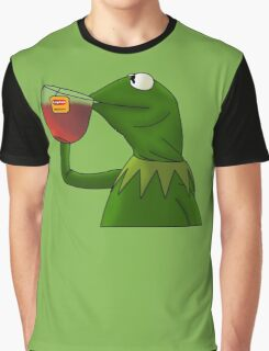 Kermit sipping tea (Redesign) Graphic T-Shirt