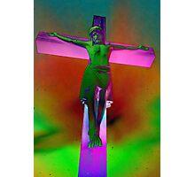 Neon Jesus  Photographic Print
