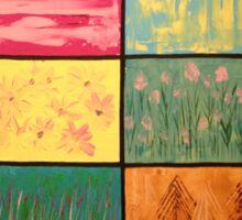 Abstract Landscape Mosaics Sticker