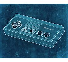 Distressed Nintendo NES Controller - Cyan Photographic Print
