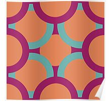pattern of colored circles Poster