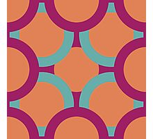 pattern of colored circles Photographic Print