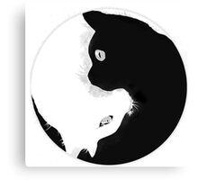 YIN YANG KITTY CAT Canvas Print
