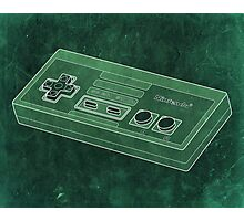Distressed Nintendo NES Controller - Green Photographic Print