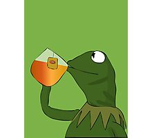 Kermit sipping tea Photographic Print