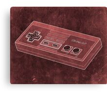 Distressed Nintendo NES Controller - Red Canvas Print