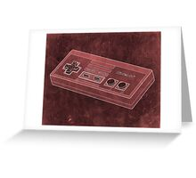 Distressed Nintendo NES Controller - Red Greeting Card