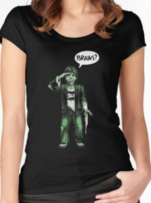 Brains? Women's Fitted Scoop T-Shirt