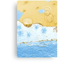 Bubble Flowers by the Puzzle Sea Canvas Print
