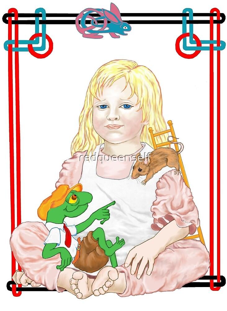 Alice, the dormouse & Bill by redqueenself