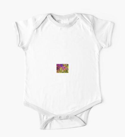 COLORFUL ABSTRACT SQUARES One Piece - Short Sleeve
