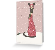 Viola, Art Deco Cat Greeting Card