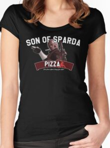 Son of Sparda Pizza Women's Fitted Scoop T-Shirt