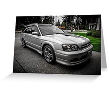 Quick Silver Twin Turbo Greeting Card