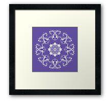 Round stylish ornament.  Framed Print