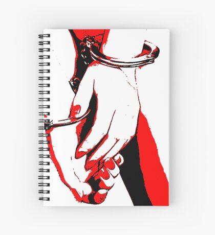 BDSM love - cuffed Spiral Notebook
