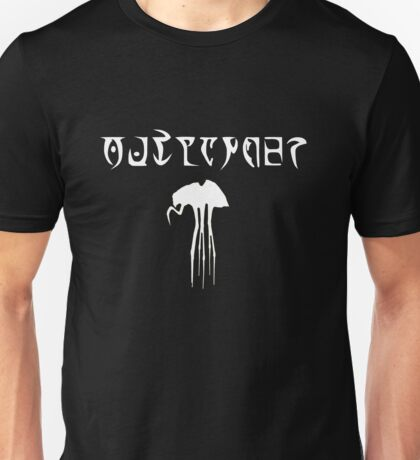 Daedric Print - Outlander with Silt Strider Unisex T-Shirt
