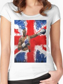 Anthony Joshua British Boxing World Champion  Women's Fitted Scoop T-Shirt