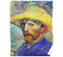 Vincent Van Gogh Self-Portrait in Straw Hat  Poster