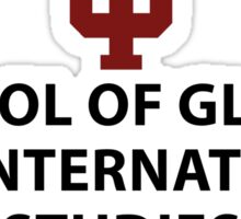IU School of Global and International Studies Sticker Sticker