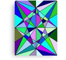 Cool Geometric Colours Canvas Print