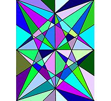 Cool Geometric Colours Photographic Print
