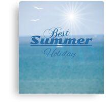 summer blurred seascape Canvas Print