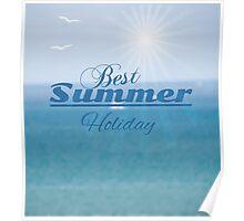summer blurred seascape Poster