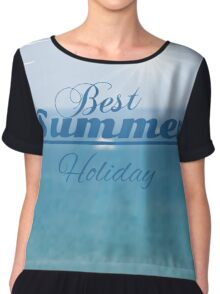 summer blurred seascape Chiffon Top