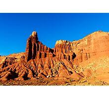 Chimney Rock at Sunset Photographic Print