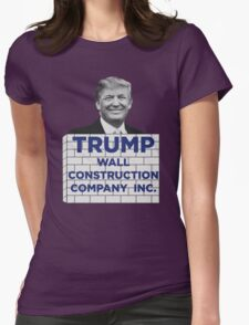 TRUMP - WALL CONSTRUCTION COMPANY  Womens Fitted T-Shirt